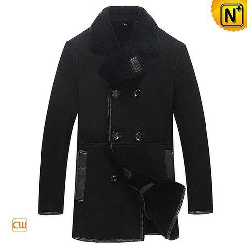 Mens Black Leather Sheepskin Jacket CW877056