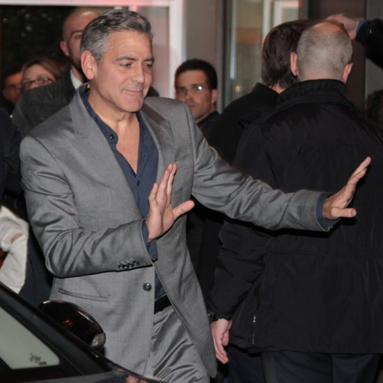 George Clooney and Matt Damon at Dinner in Milan