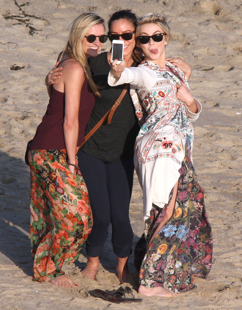 Julianne Hough snapped a selfie on Monday during a trip to the beach in LA.