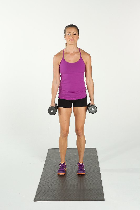 3a. Standing Bicep Curls