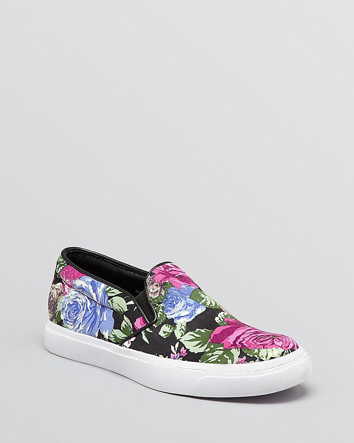 Jeffrey Campbell Floral Slip-On Sneakers