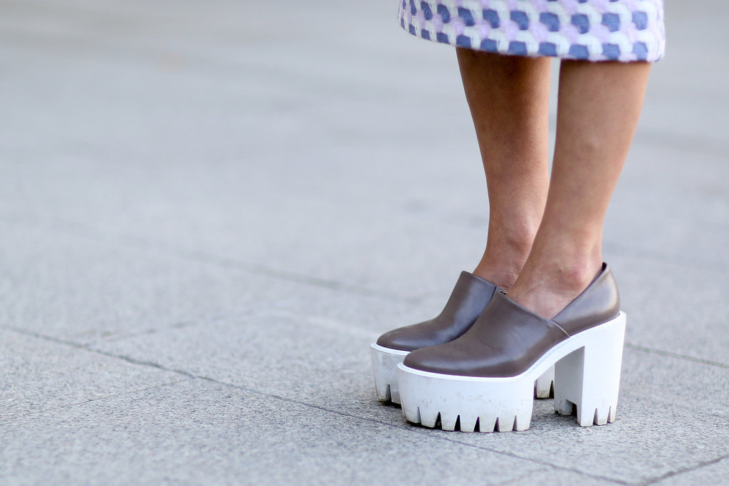 Chunky heels are a surefire way to turn heads.