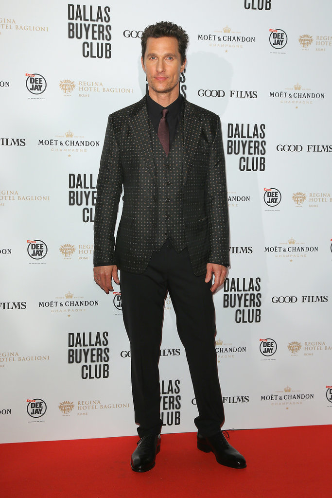 Matthew McConaughey at the Dallas Buyers Club Rome Premiere