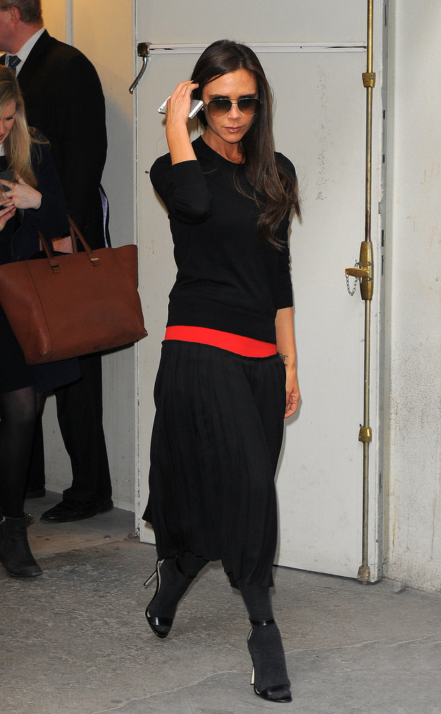 Victoria Beckham went shopping in Paris on Friday. The designer is in town for Paris Fashion Week.