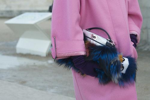 Anna Dello Russo came armed with Fendi fur.