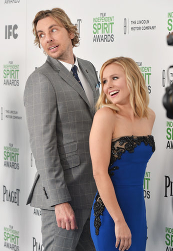 Dax Shepard and Kristen Bell jokingly posed on the Spirit Awards red carpet.