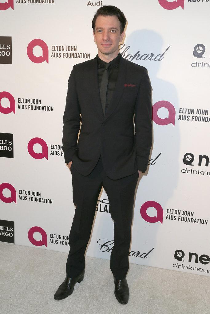 JC Chasez rocked a sleek black suit.