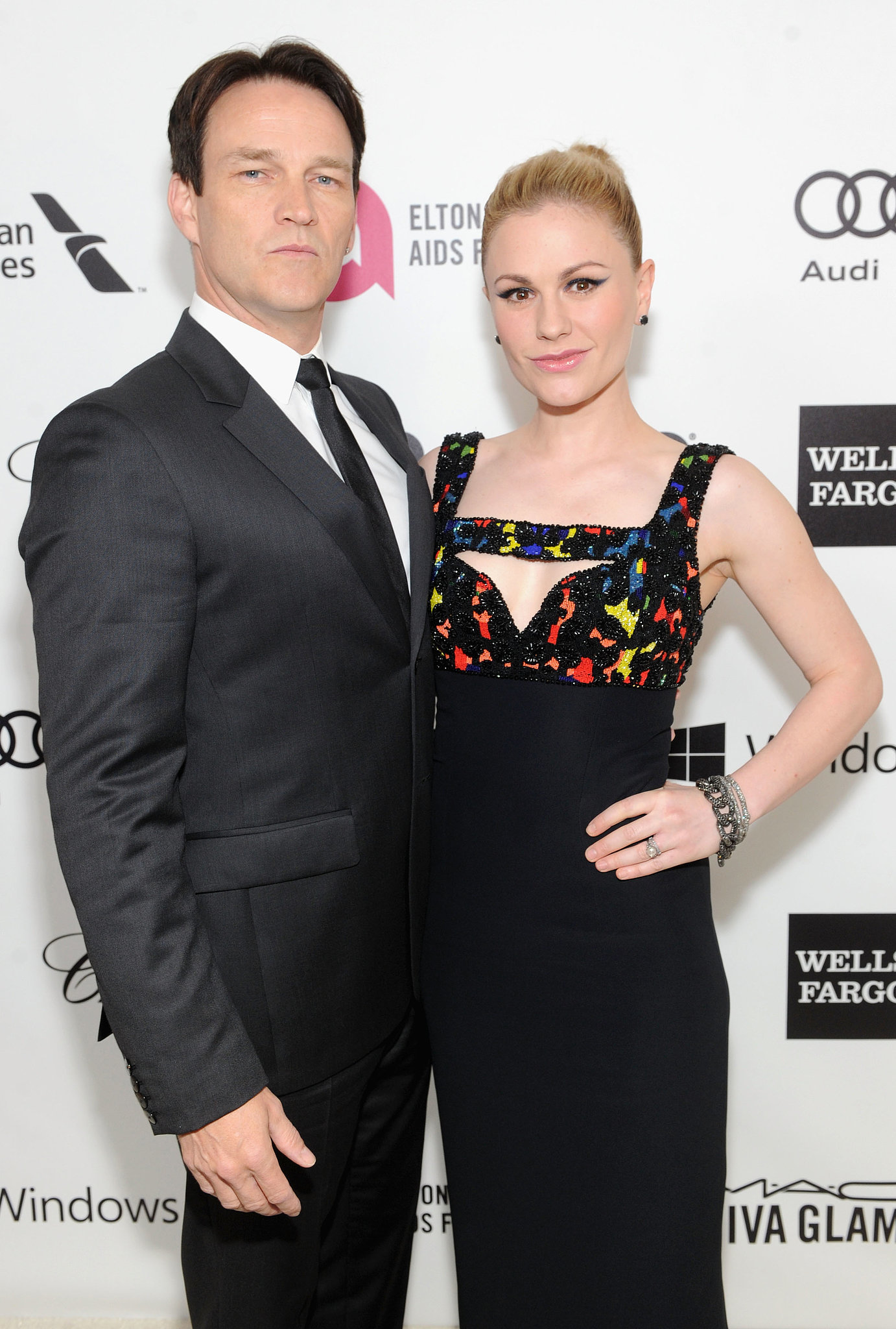 Anna Paquin and Stephen Moyer cozied up.
