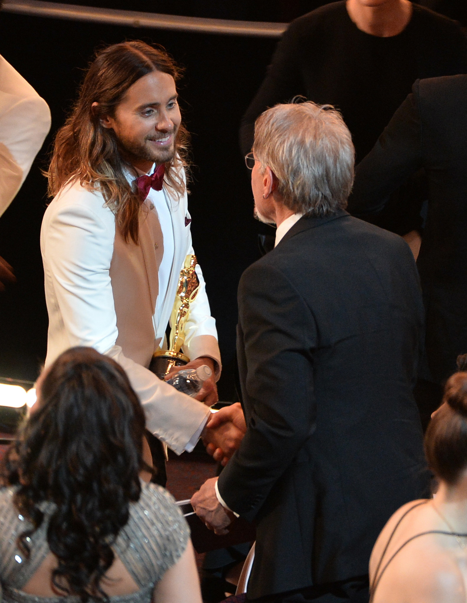 Harrison Ford congratulated Jared Leto on his Oscar win.