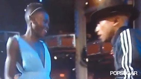 Pharrell Breaks It Down With Lupita