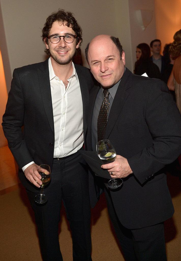 Josh Groban had a drink with Jason Alexander.