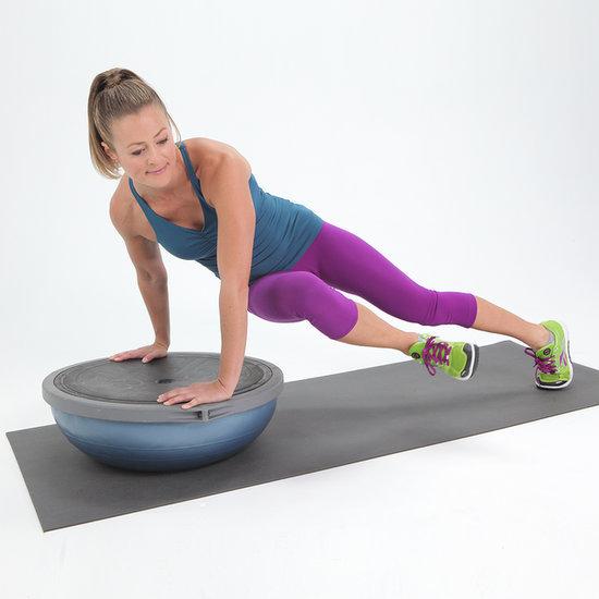 Bosu Ball Side Plank: POPSUGAR Fitness