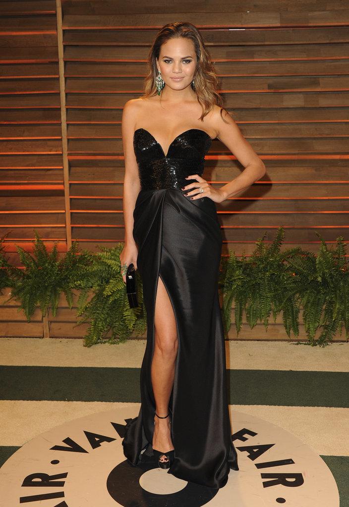 Chrissy Teigen at the 2014 Vanity Fair Oscars Party