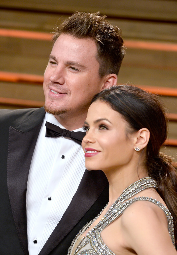 Channing Tatum and Jenna Dewan-Tatum glowed at the Vanity Fair Oscars party.