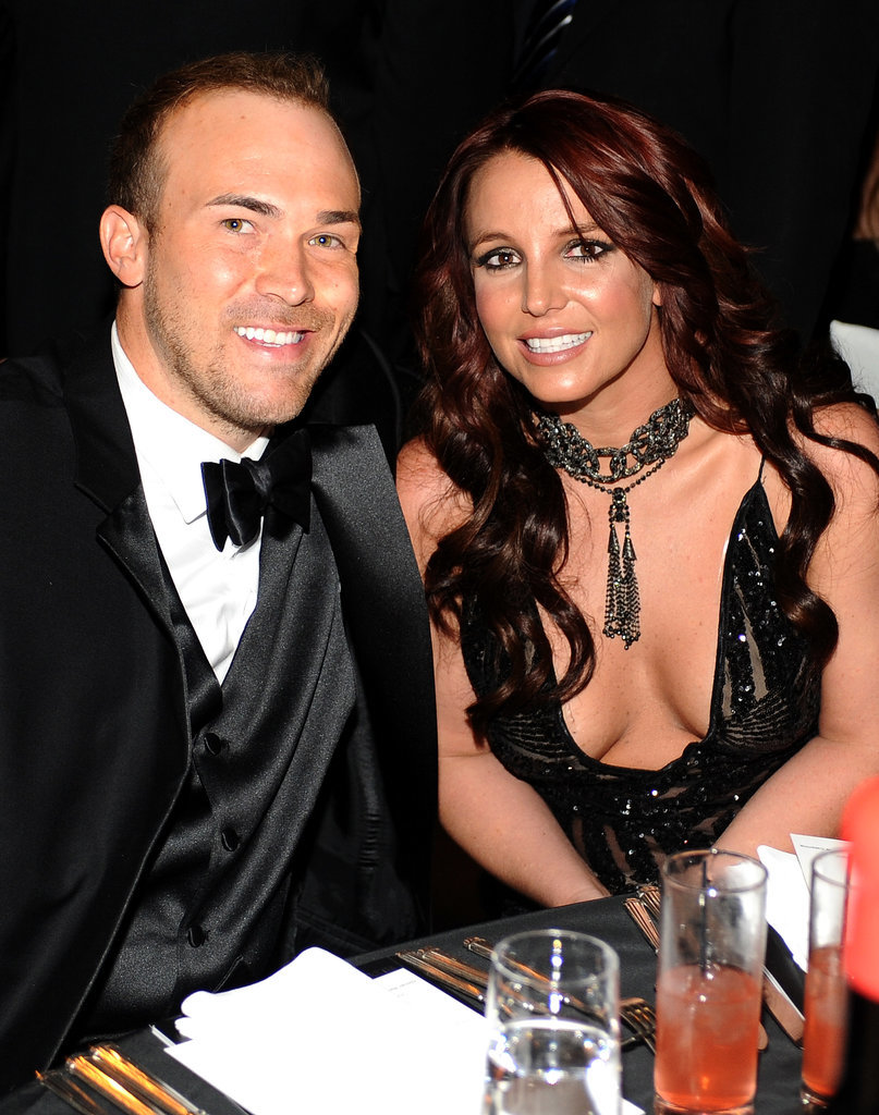 Britney Spears and David Lucado sat together at the Elton John AIDS Foundation Oscars viewing party.