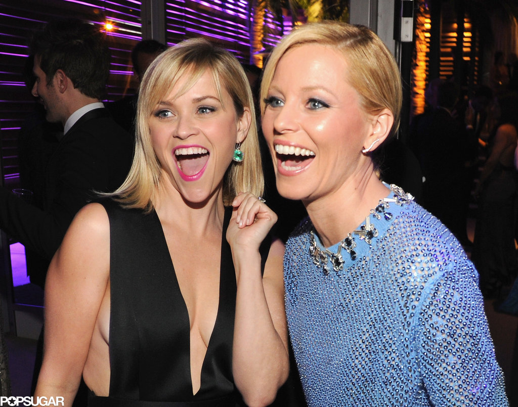Reese and Elizabeth Banks proved that blondes have more fun during the Vanity Fair Oscars afterparty in March 2014.
