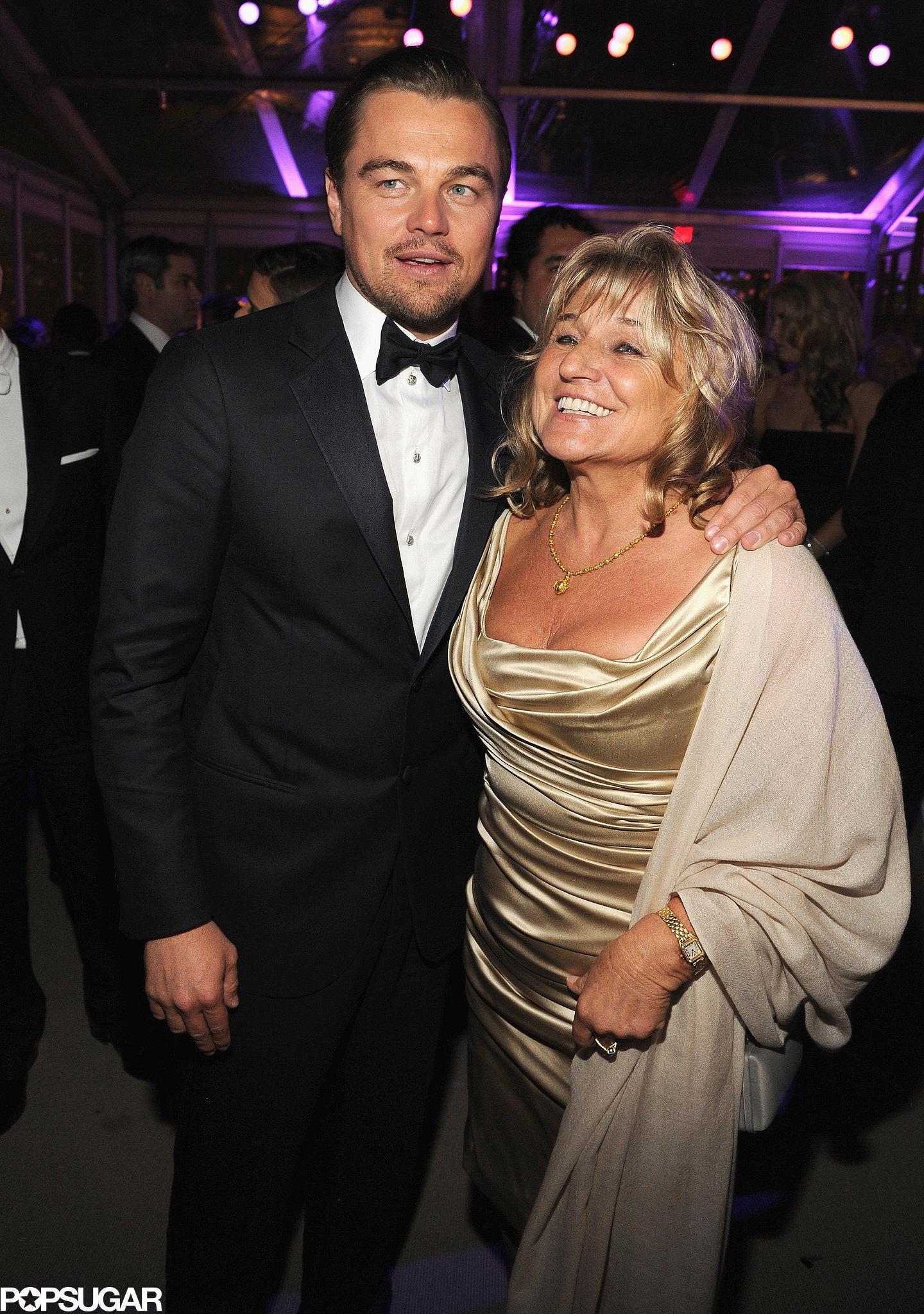 Leonardo DiCaprio partied with his mom, Irmelin Indenbirken.