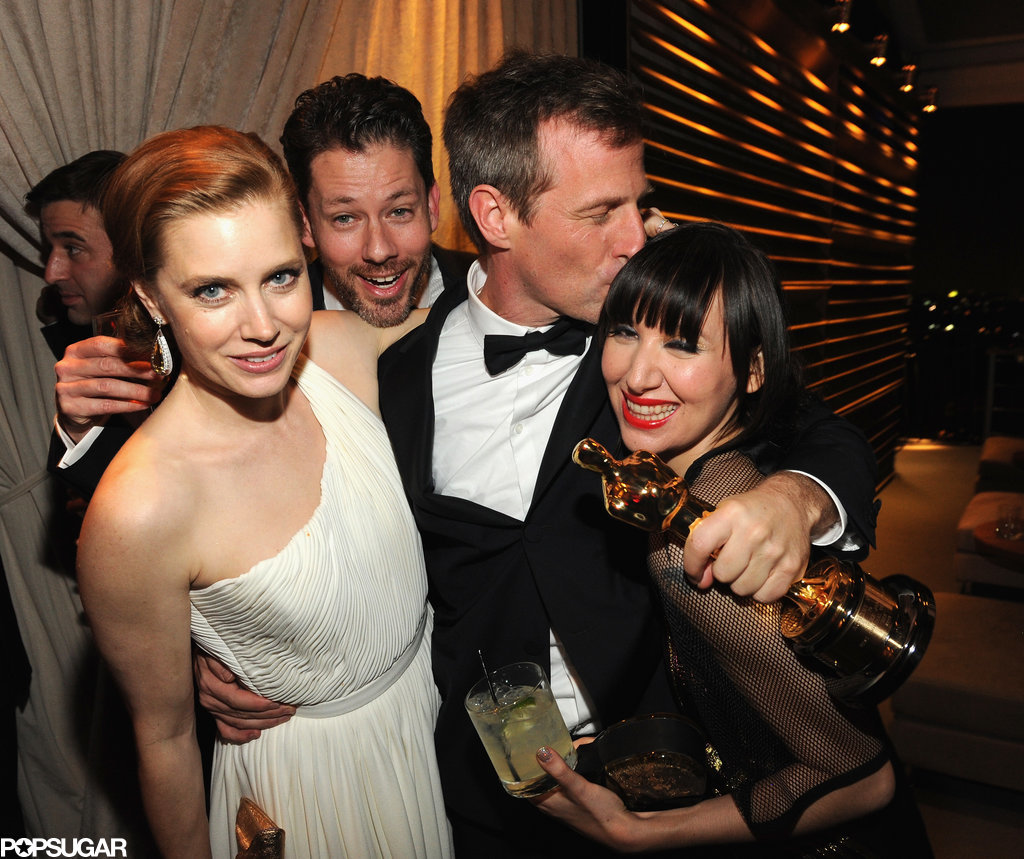 Amy Adams and her fiancé, Darren Le Gallo, partied it up with Her director Spike Jonze and singer Karen O.
