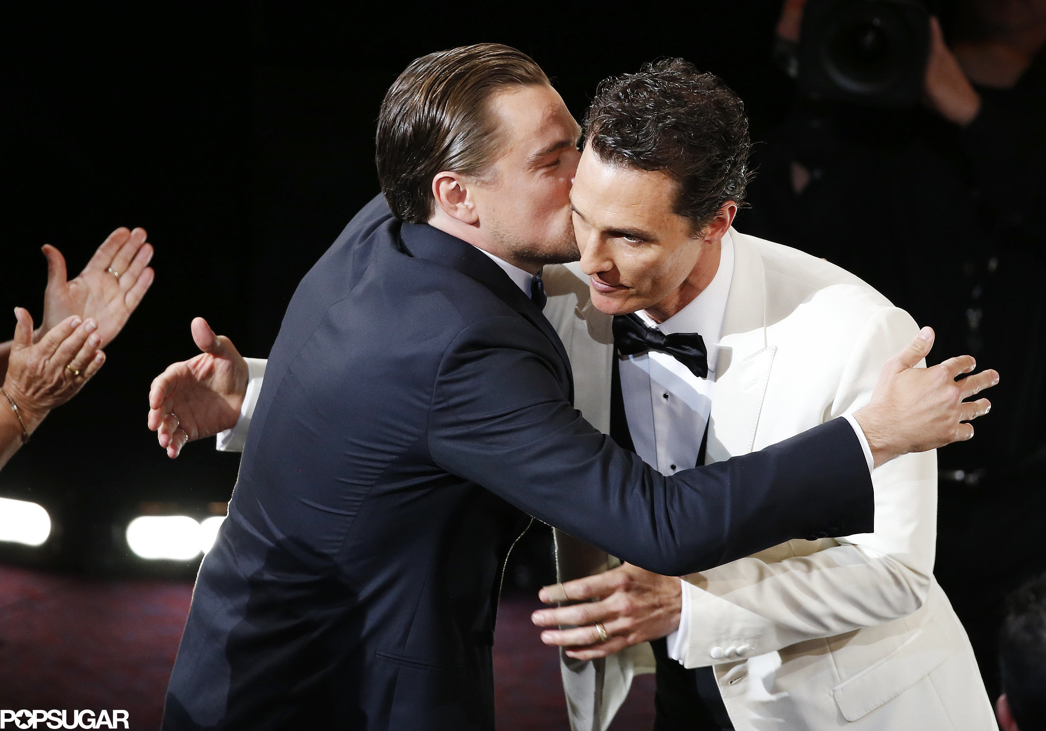 Fellow nominee Leonardo DiCaprio congratulated Matthew McConaughey on his best