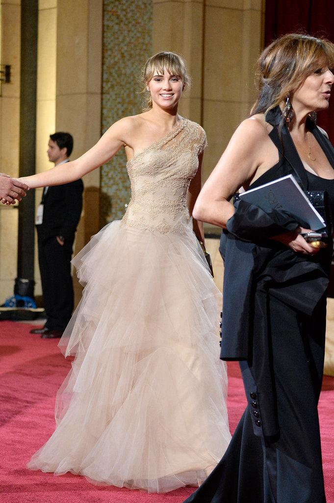 Suki Waterhouse at the 2014 Oscars