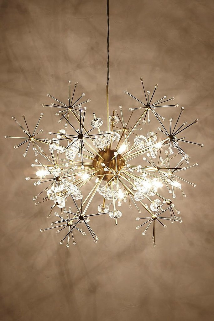 This orbit chandelier ($1,698). Need we say more? Quick to become a focal point, this is definitely an investment that will pay off over the years.