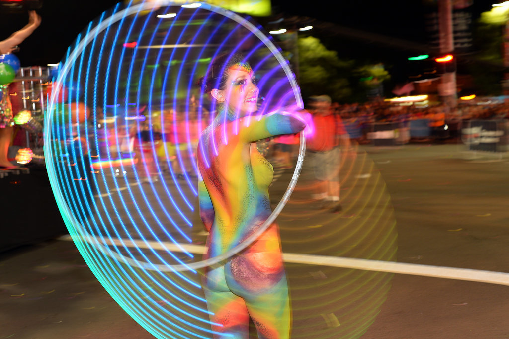 Participants marched in Sydney, Australia, for the annual gay pride/Mardi Gras parade.