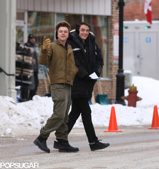Robert Pattinson Gets Giggly in the Snow With His Costar