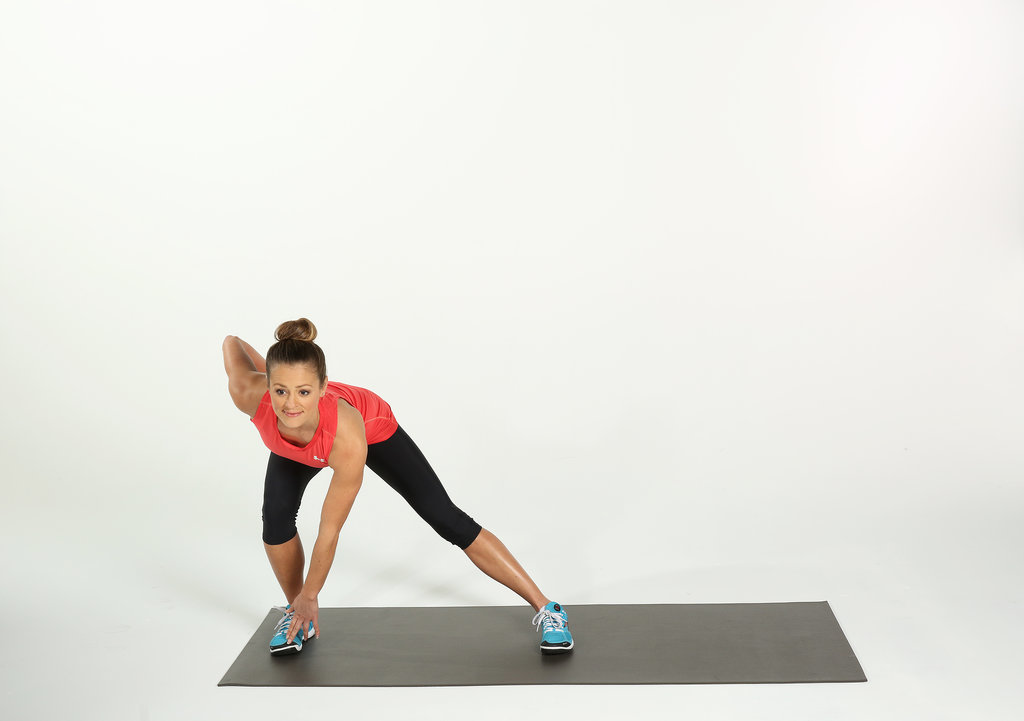Pulsing Right Side Lunges