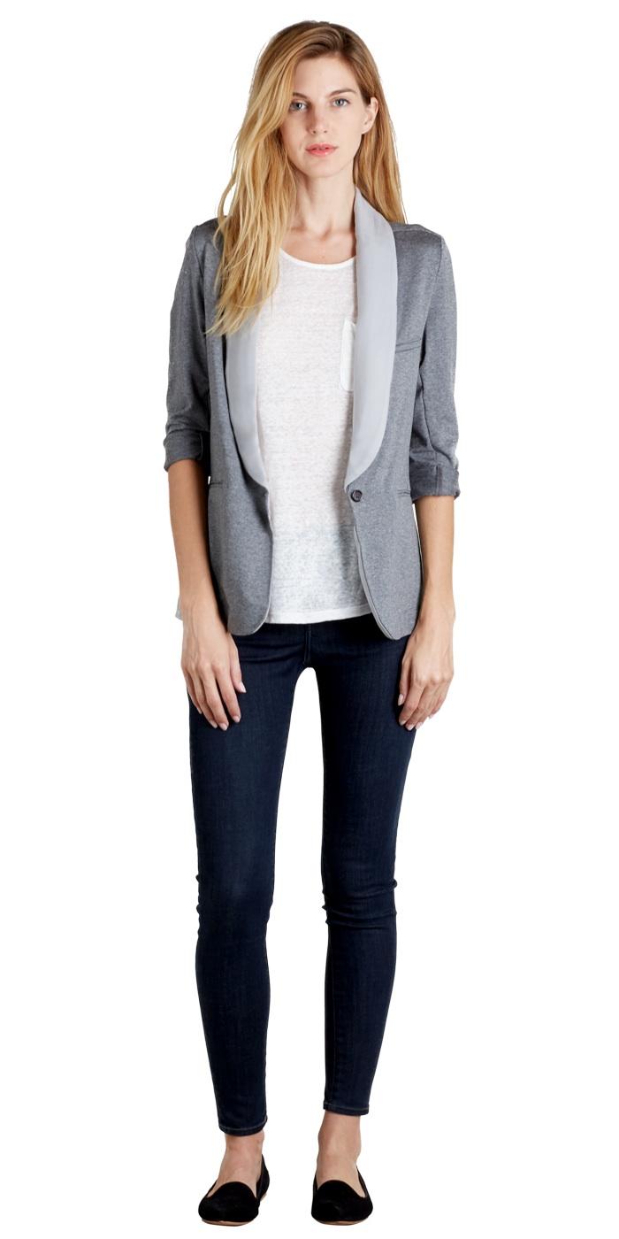 Soft Joie light gray Neville blazer ($158)