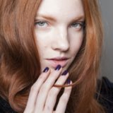 Dark Nail Polish Top Trend Paris Fashion Week Autumn 2014