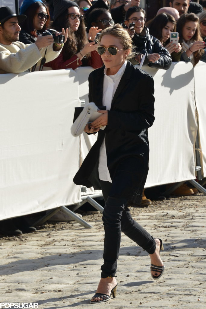 Mary-Kate Olsen Brings Out Her Blinding Ring in Paris