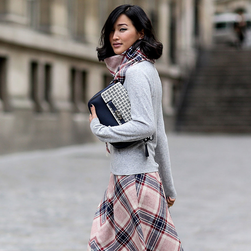 2014 Autumn Winter Paris Fashion Week Street Style Popsugar Fashion Australia