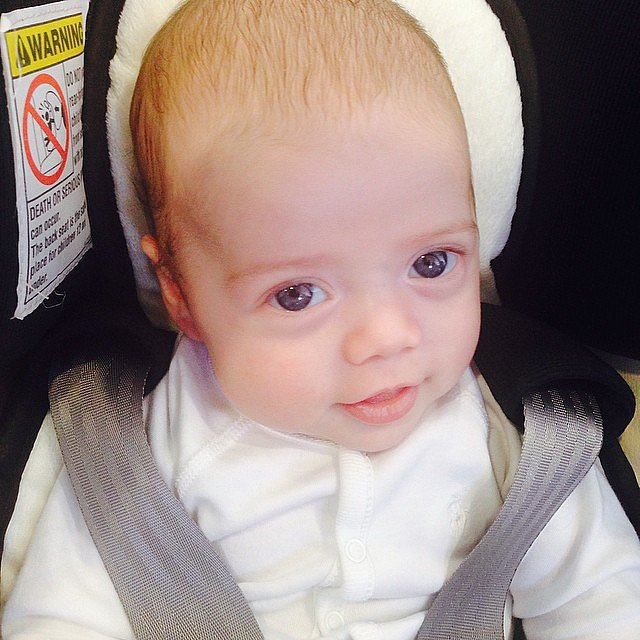 Kaius Berman visited mom Rachel Zoe's office for the first time this week. Source: Instagram user rachelzoe