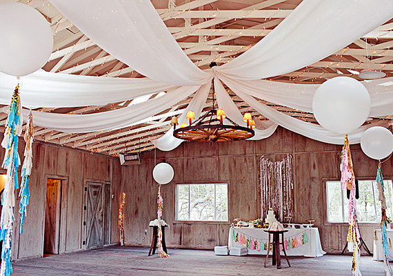 Create a Canopy Balloon Effect For the Reception