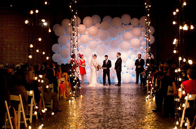 Or Make an Entire Ceremony Backdrop Wall