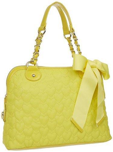 Amazon.com: Betsey Johnson BH94310 Satchel,Yellow,One Size: Clothing
