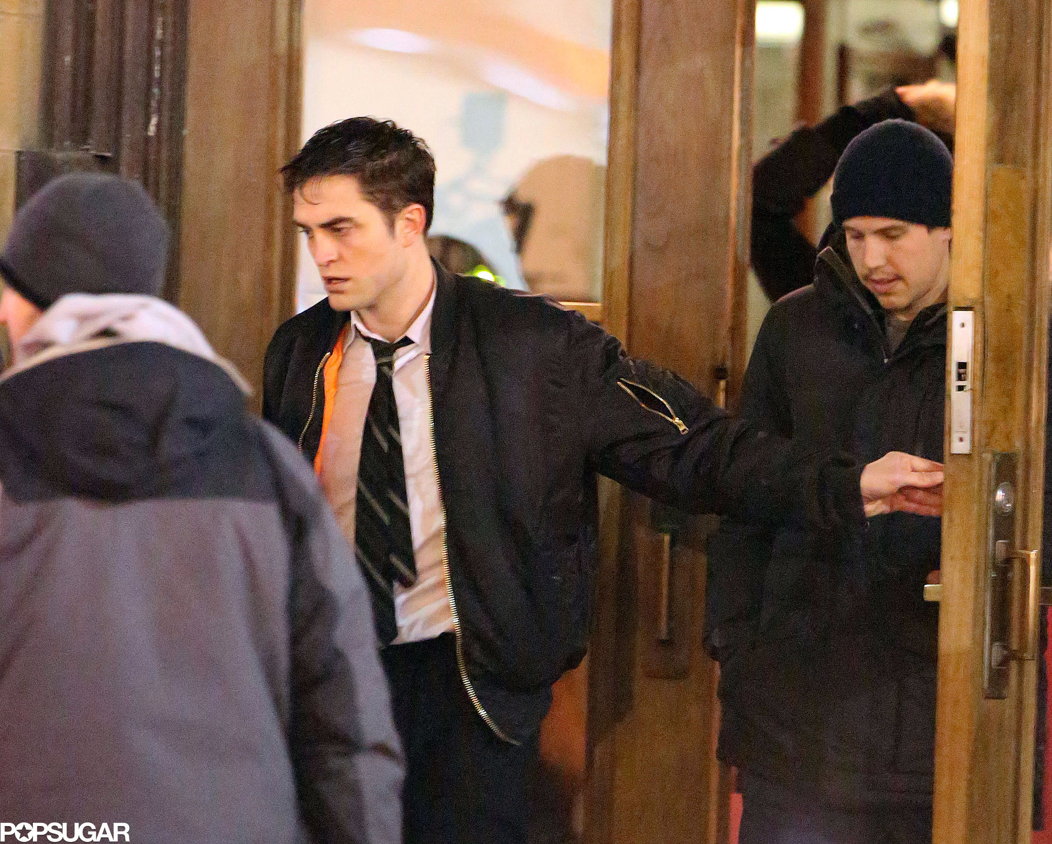 Robert Pattinson Gets Emotional in the Rain