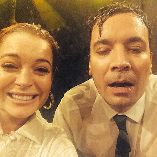 Lindsay Lohan Water War With Jimmy Fallon