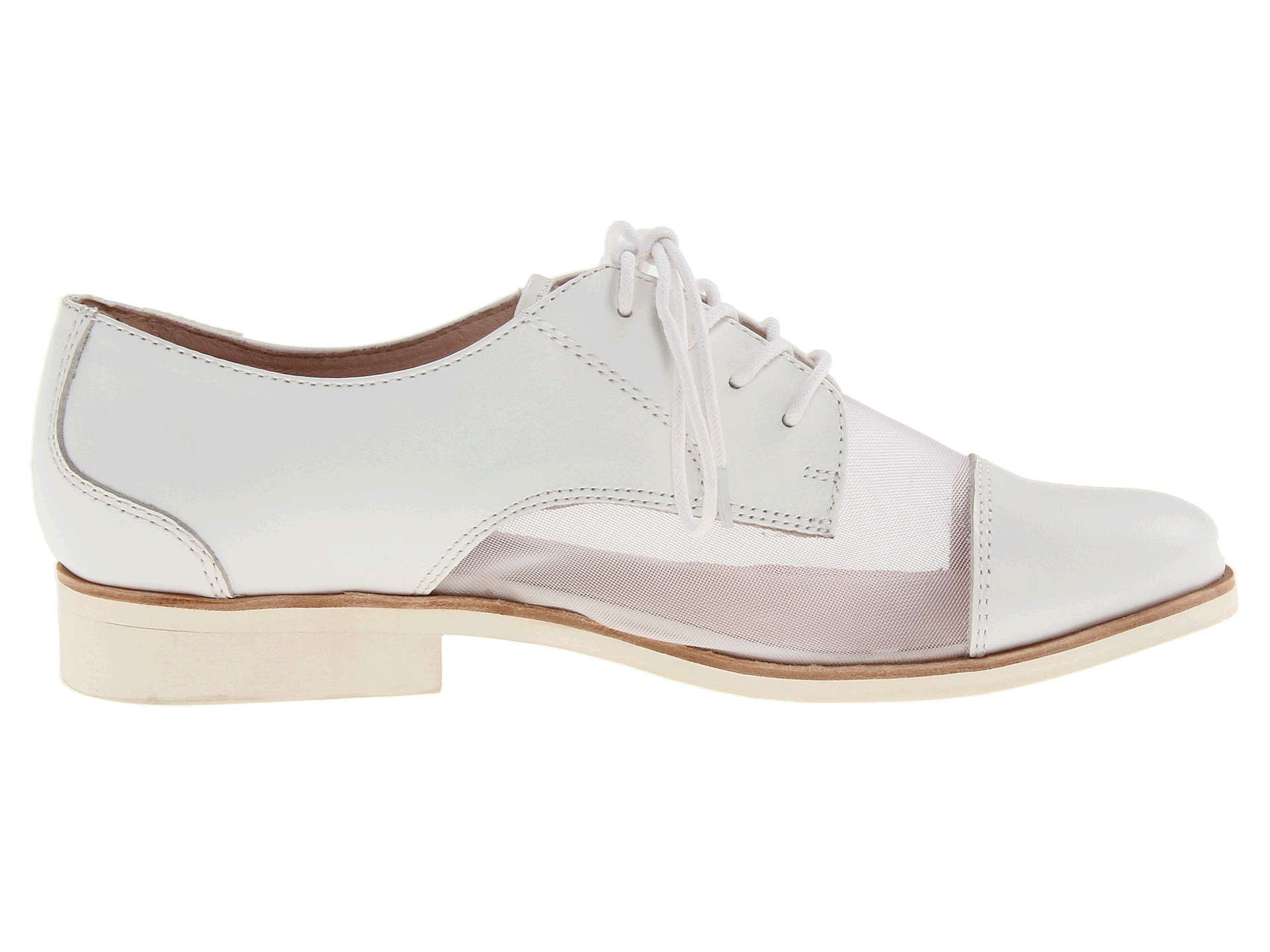 Bass White Sheer Tavi Lace-Up Oxfords ($67)