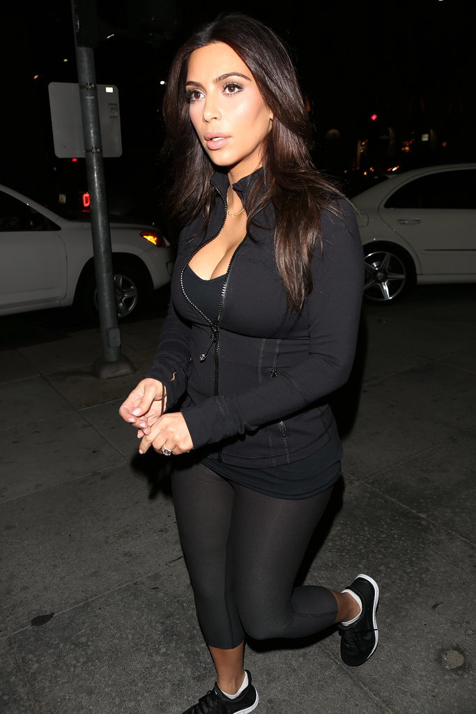 Kim Gets Prewedding Gym Help From Khloé and Kendall