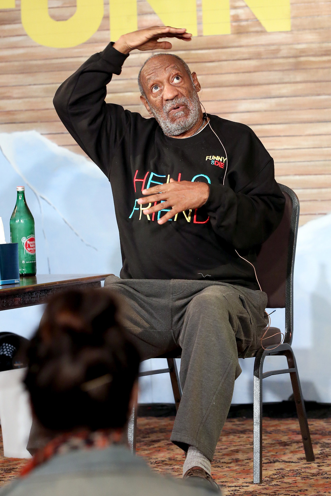 Bill Cosby had fun on stage on Monday.