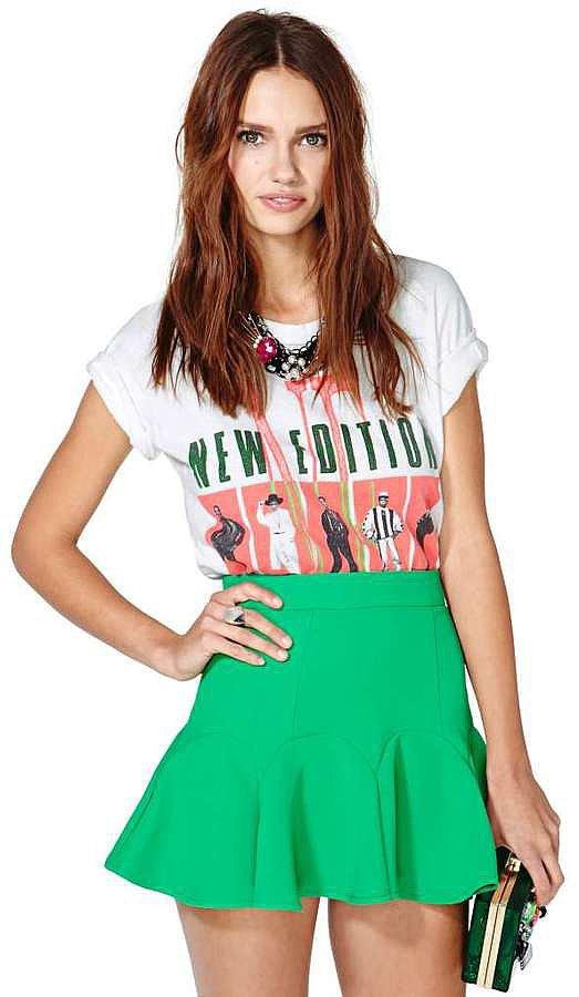 Nasty Gal Green Miniskirt