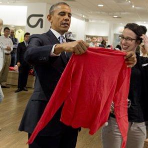 President Obama Shopping at Gap