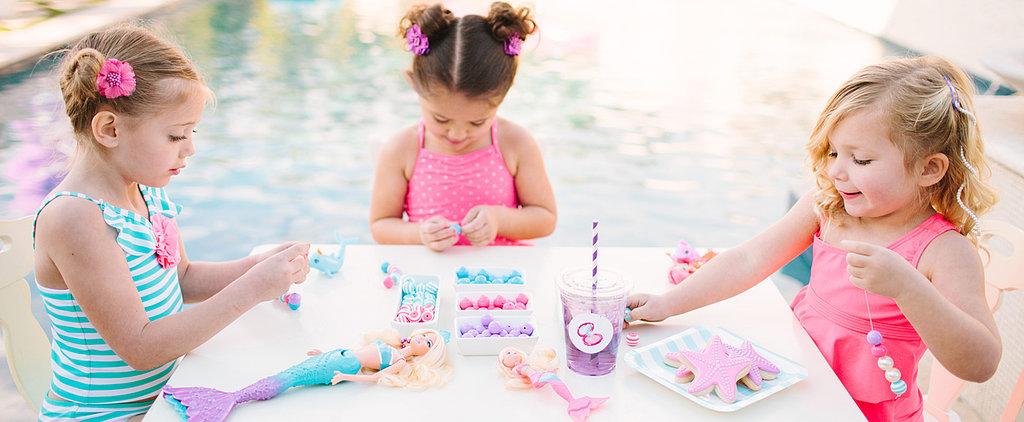 A Poolside Barbie Party Full of Mermaid Details