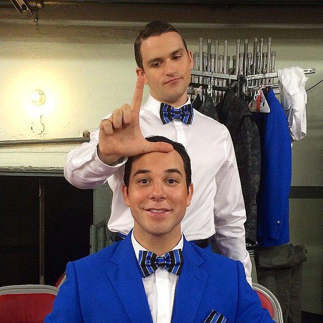 "To celebrate his episode of Glee, Skylar Astin snapped a signature ""loser"" photo. Source: Instagram user skylarastin"