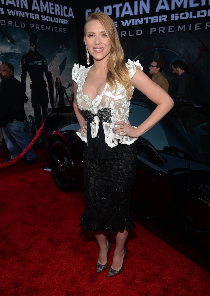 Scarlett had that pregnancy glow at the LA premiere of Captain America: The Winter Soldier in March 2014.