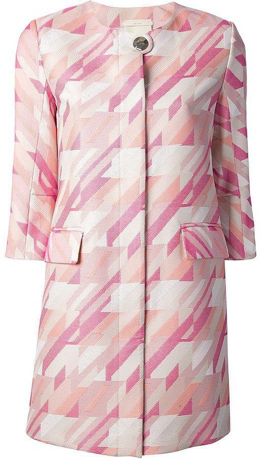 Pinko printed pink coat ($559)