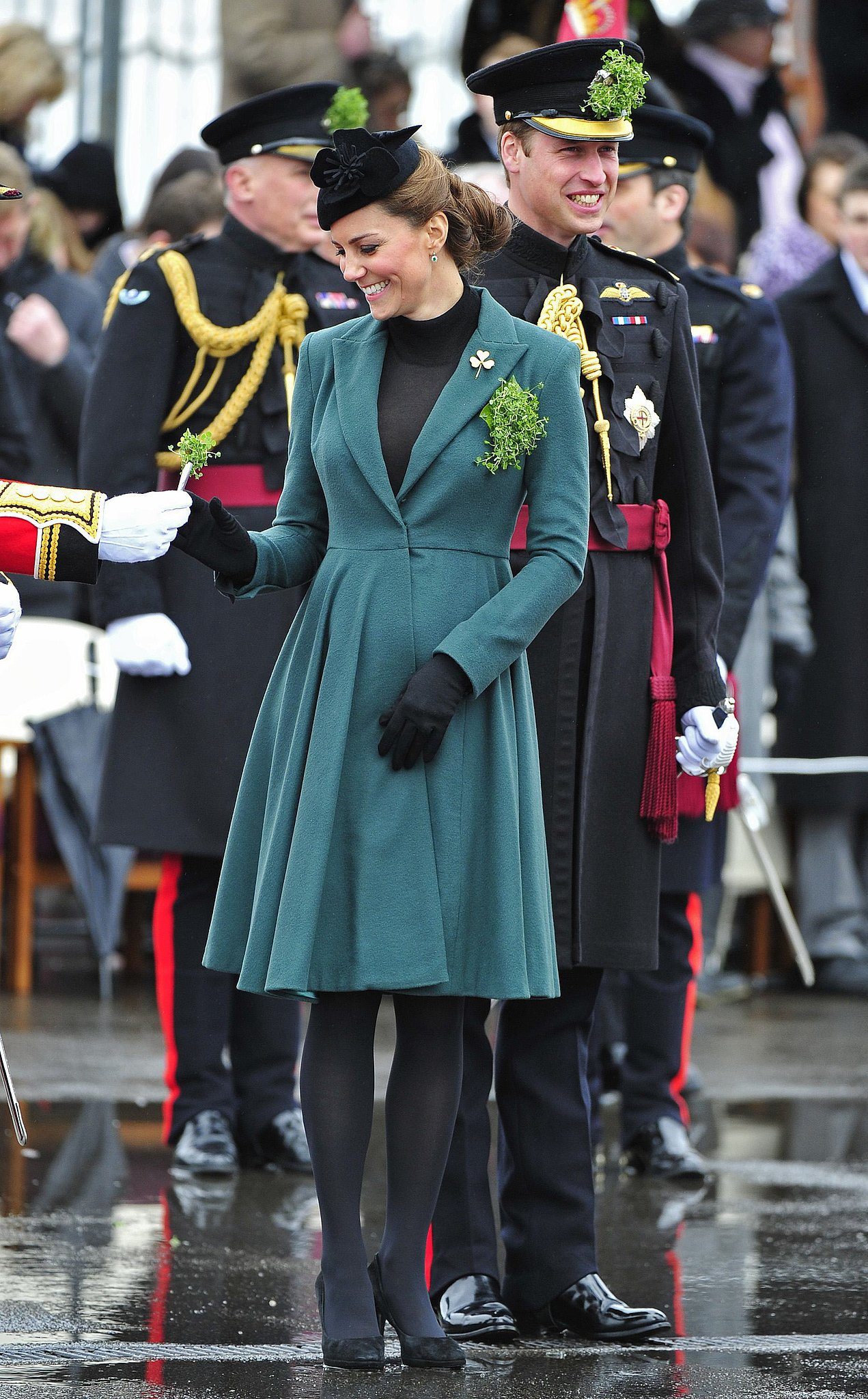 Kate Middleton and Prince William attended a St. Patrick's Day parade in Aldershot in March 2013.
