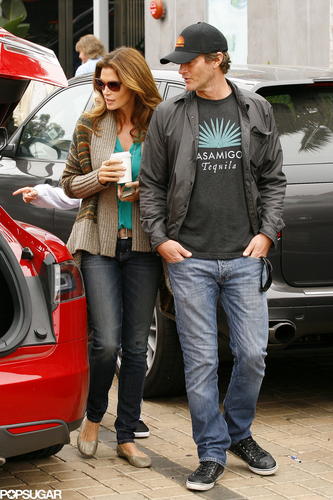 Cindy Crawford got into the St. Patrick's Day spirit sporting a green t-shirt for an outing with husband Rande Gerber in 2013.