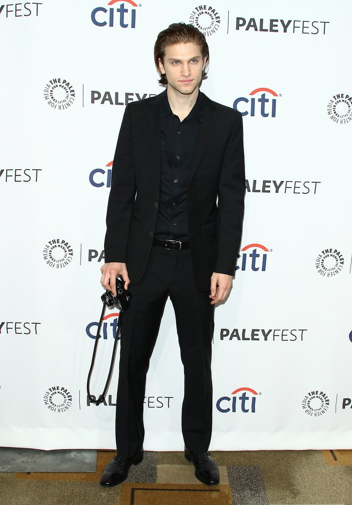 Keegan Allen slicked his hair back for the Pretty Little Liars event.
